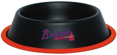 Atlanta BRAVES MLB 32 oz. Water Bowl - Daisey's Doggie Chic
