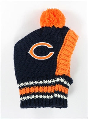 Chicago BEARS  NFL Official Licensed Ski Hat for Dogs in color Navy/Orange - Daisey's Doggie Chic