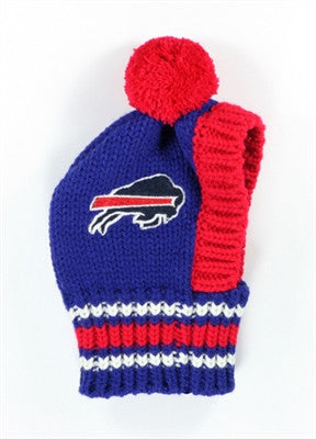 Buffalo BILLS NFL Official Licensed Ski Hat for Dogs in color Blue/Red - Daisey's Doggie Chic - 1