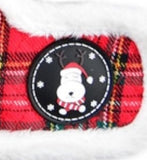 Blitzen Plaid Choke-Free Quilted Halter Harness - Color Holiday Red Plaid - Daisey's Doggie Chic