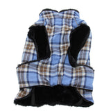 SALE - Doggie Design Alpine Cold Weather Flannel Plaid Jacket Vest available in 3 Colors - Daisey's Doggie Chic