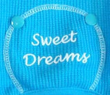 Sweet Dreams Long John Thermal Pajamas in color Bright Baby Blue - Daisey's Doggie Chic