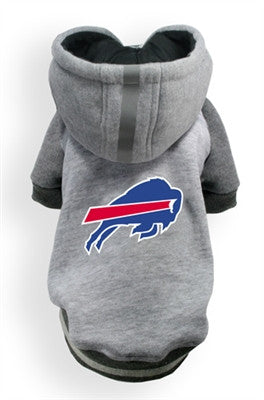 Buffalo BILLS NFL dog Helmet Hoodie in color Athletic Gray - Daisey's Doggie Chic