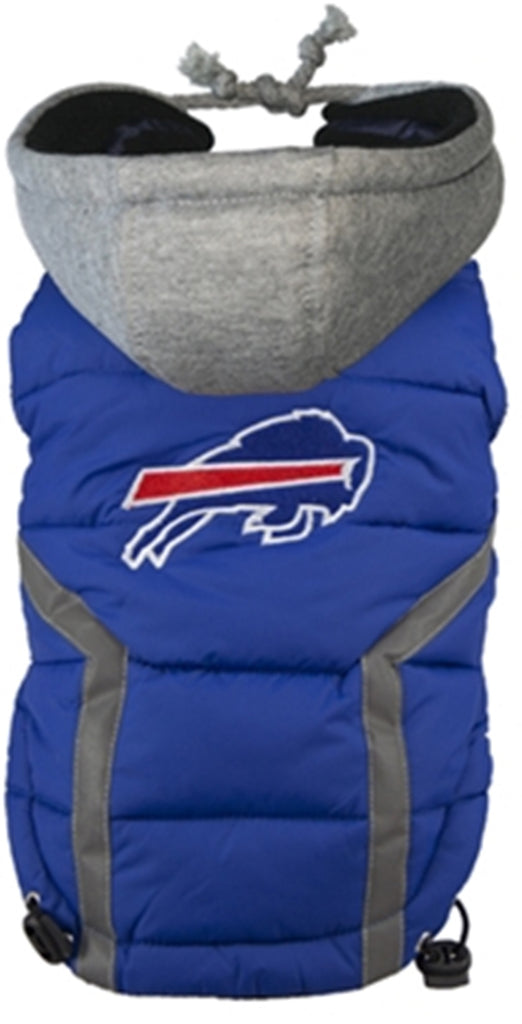 Buffalo BILLS NFL dog Jacket (Puffer Vest) in color Blue - Daisey's Doggie Chic