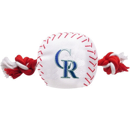 Colorado ROCKIES MLB Baseball Tug'n Chew Toy - Daisey's Doggie Chic - 1