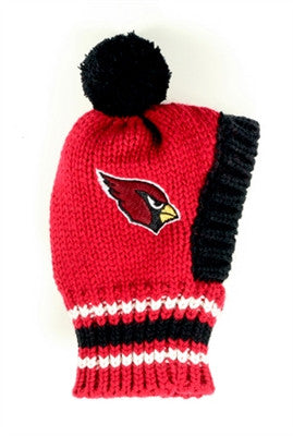 Arizona CARDINALS NFL Official Licensed Ski Hat for Dogs in color Red/Black - Daisey's Doggie Chic - 1