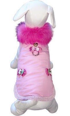 Classy Girl Cuddle Harness Jacket Vest in color Pink - Daisey's Doggie Chic
