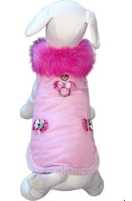 Classy Girl Cuddle Harness Jacket Vest in color Pink - Daisey's Doggie Chic - 1