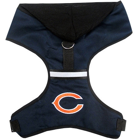 Chicago BEARS NFL dog Hoodie Harness in Color Navy - Daisey's Doggie Chic - 1