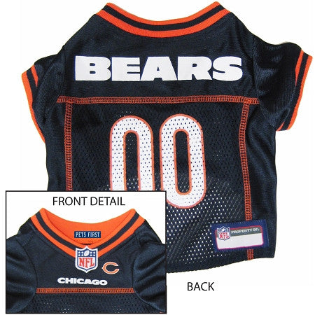 Chicago BEARS  NFL dog Jersey in color Navy - Daisey's Doggie Chic