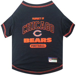 Chicago BEARS NFL dog T-Shirt in color Navy - Daisey's Doggie Chic - 1
