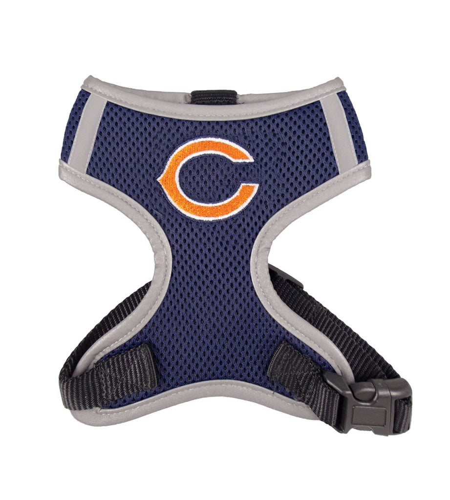 Chicago BEARS  NFL dog Reflective Harness in Color Navy - Daisey's Doggie Chic - 1