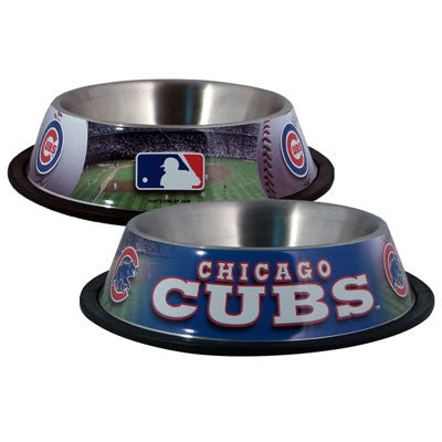 Chicago CUBS  MLB 32 oz. Water Bowl - Daisey's Doggie Chic - 1