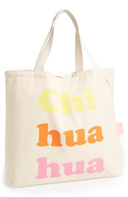 "Romy & Jacob ""Chi-hua-hua"" Organic Designer Tote Bag in Color Multi - Daisey's Doggie Chic"