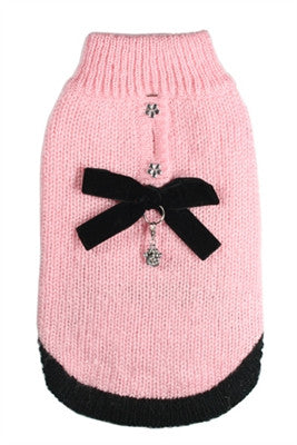 "Classic Coco ""Channel"" Mohair Sweater in color Pink - Daisey's Doggie Chic"