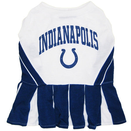 Indianapolis COLTS NFL dog Cheerleader Dress - Daisey's Doggie Chic