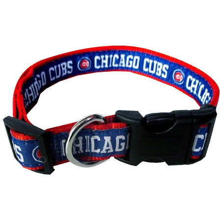 Chicago CUBS  MLB Nylon Collar - Daisey's Doggie Chic