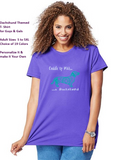 Dachshund Themed Crewneck T-Shirt – Cuddle up With a Dachshund logo - Adult (Unisex) Sizes S,M,L,XL,2XL in 19 colors - Daisey's Doggie Chic