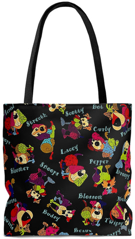 Personalized Pet Breed Tote Bags for Dog & Cat Lovers