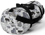 Exclusive Dog Art Duffel Bag Les Chien Dogs Always -Favorite Dog Breeds- Size S or L - personalize - Daisey's Doggie Chic