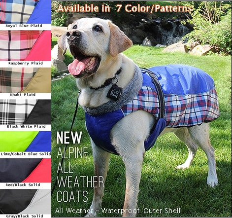 Doggie Design Alpine All Weather Waterproof Coat Vest available in 7 Colors - Daisey's Doggie Chic
