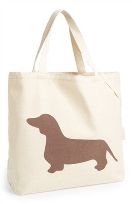"Romy & Jacob ""Dachshund"" Organic Designer Tote Bag Available in Color Chocolate - Daisey's Doggie Chic - 1"