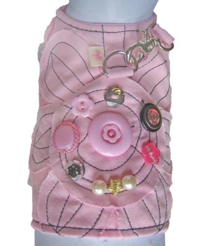 Bloomin' Daisy Vest Harness w/Leash in color Pink - Daisey's Doggie Chic - 3