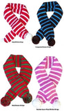 Candy Cane Striped Knit Scarf for Dogs Available in 4 Colors - Daisey's Doggie Chic - 1