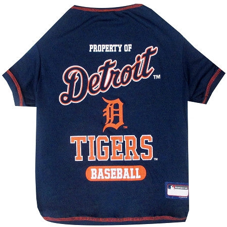 Detroit TIGERS  MLB Tee Shirt - Daisey's Doggie Chic