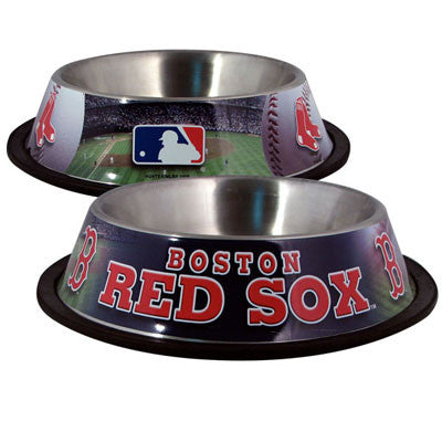 BOSTON RED SOX  MLB 32 oz. Water Bowl - Daisey's Doggie Chic - 1