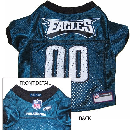Philadelphia EAGLES NFL dog Jersey in color Black - Daisey's Doggie Chic - 1