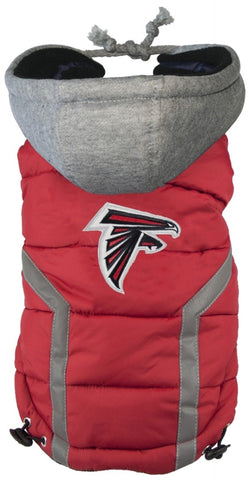 Atlanta FALCONS NFL dog Jacket (Puffer Vest) in color Red - Daisey's Doggie Chic - 1
