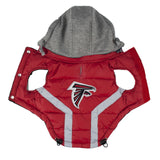 Atlanta FALCONS NFL dog Jacket (Puffer Vest) in color Red - Daisey's Doggie Chic - 2