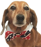 American Flag Stars and Stripes Bow Tie and Dress-up Shirt Collar With Pin - Daisey's Doggie Chic