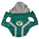 Green Bay PACKERS NFL  dog Jacket in color Green - Daisey's Doggie Chic