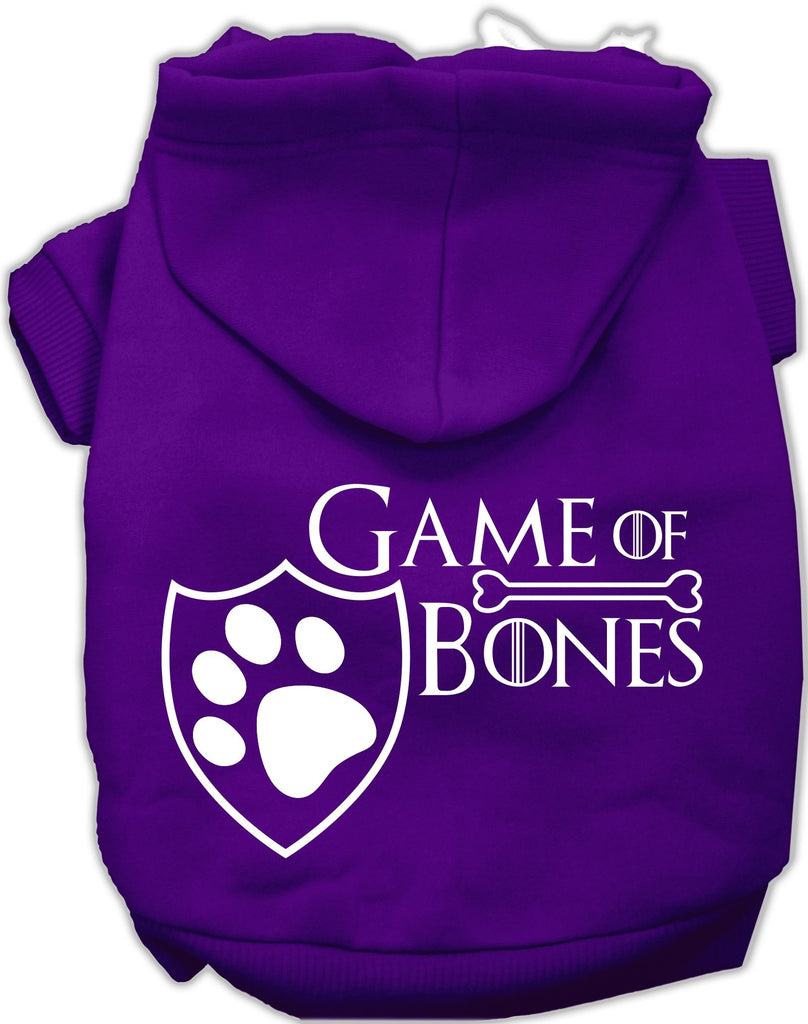 Game of Bones Dog's Fleece Hoodie in Color Purple - Daisey's Doggie Chic