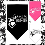 Game of Bones Bandana Scarf in 3 colors Black,Pink or White - Daisey's Doggie Chic