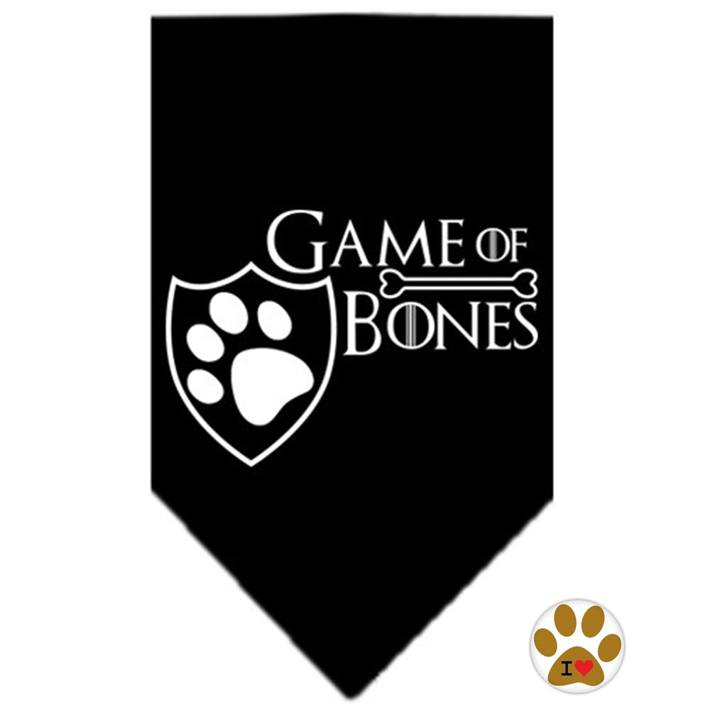 Game of Bones Bandana Scarf in color Black - Daisey's Doggie Chic - 1