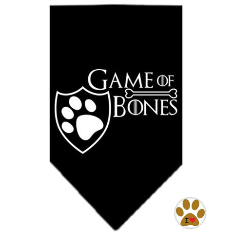Game of Bones Bandana Scarf in color Black - Daisey's Doggie Chic