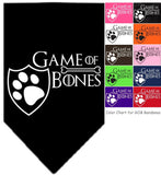 Game of Bones Bandana Scarf in 10 color choices - Daisey's Doggie Chic