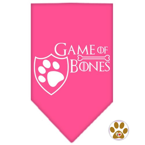Game of Bones Bandana Scarf in color Pink - Daisey's Doggie Chic