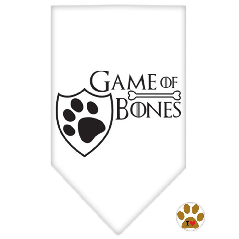 Game of Bones Bandana Scarf in color White - Daisey's Doggie Chic