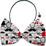 Gentlemen Night Out - Fun Party Themed Bowtie 2-Pack set with Charm Accessory for Dogs or Cats - Daisey's Doggie Chic