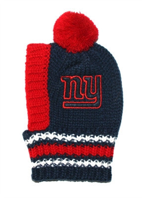 New York GIANTS  NFL Official Licensed Ski Hat for Dogs in color Navy/Red - Daisey's Doggie Chic - 1
