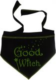 Good Witch Bad Witch Reversible Scarf in color Black/Green - Daisey's Doggie Chic - 2
