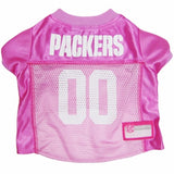 Green Bay PACKERS  NFL dog Jersey in color Pink - Daisey's Doggie Chic - 1