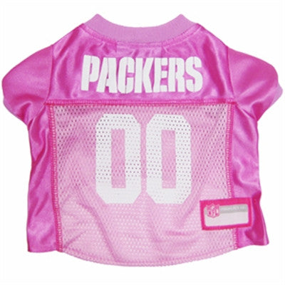 Green Bay PACKERS  NFL dog Jersey in color Pink - Daisey's Doggie Chic