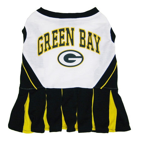 Green Bay PACKERS  NFL dog Cheerleader Dress - Daisey's Doggie Chic - 1