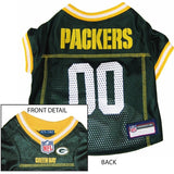 Green Bay PACKERS NFL  dog Jersey in color Green - Daisey's Doggie Chic - 1