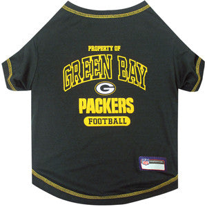 Green Bay PACKERS NFL  dog T-Shirt in color Green - Daisey's Doggie Chic
